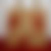 Sac cabas en jute, avec des bonhommes pain d'épices peints à la main