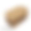 30 grandes étiquettes kraft marrons