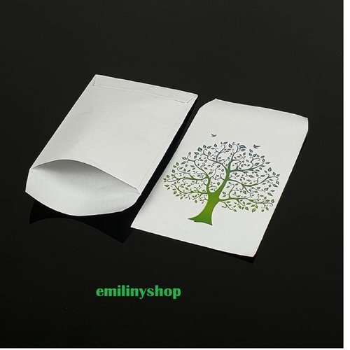 lot 50 pochettes sachets fantaisie papier 13.5x7 attrape rêve emballage cadeaux