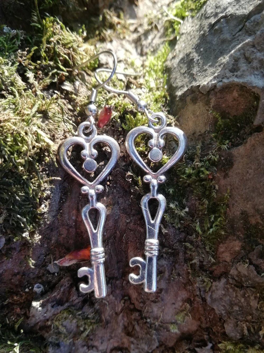 Boucles d'oreilles Keys #2