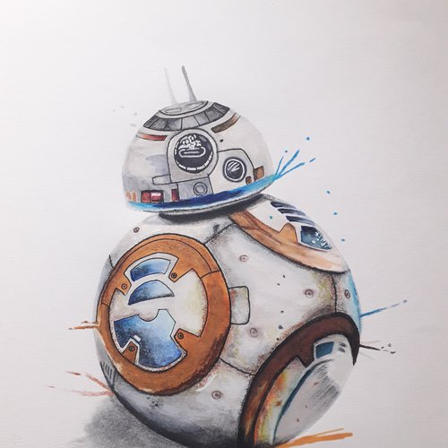Dessin Star Wars Bb8 Un Grand Marché