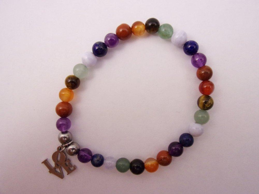 Bracelet énergétique «7 Chakras» 17,5 cm
