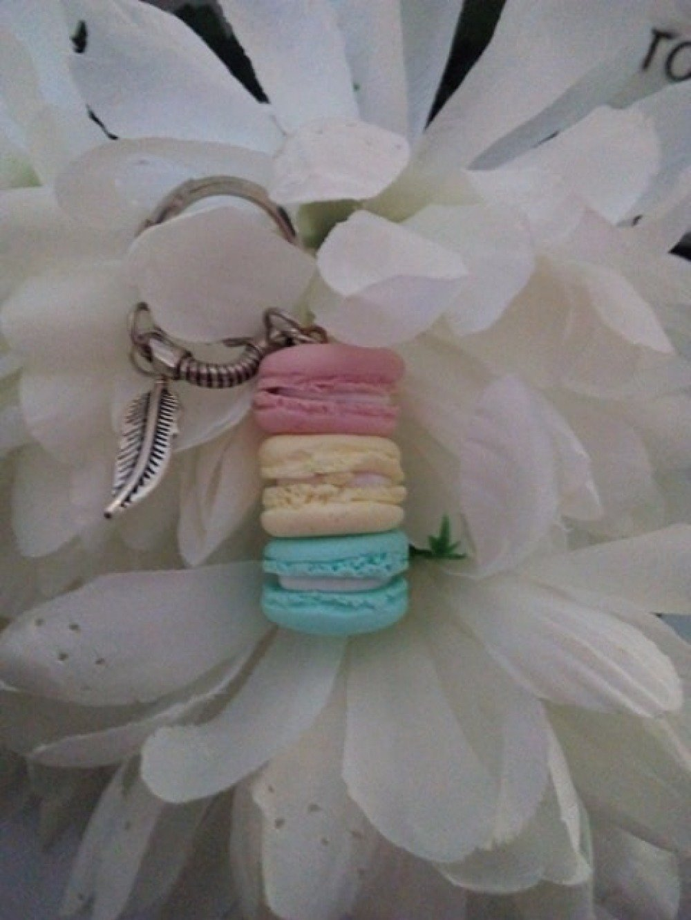 Porte clès Macarons Pastel