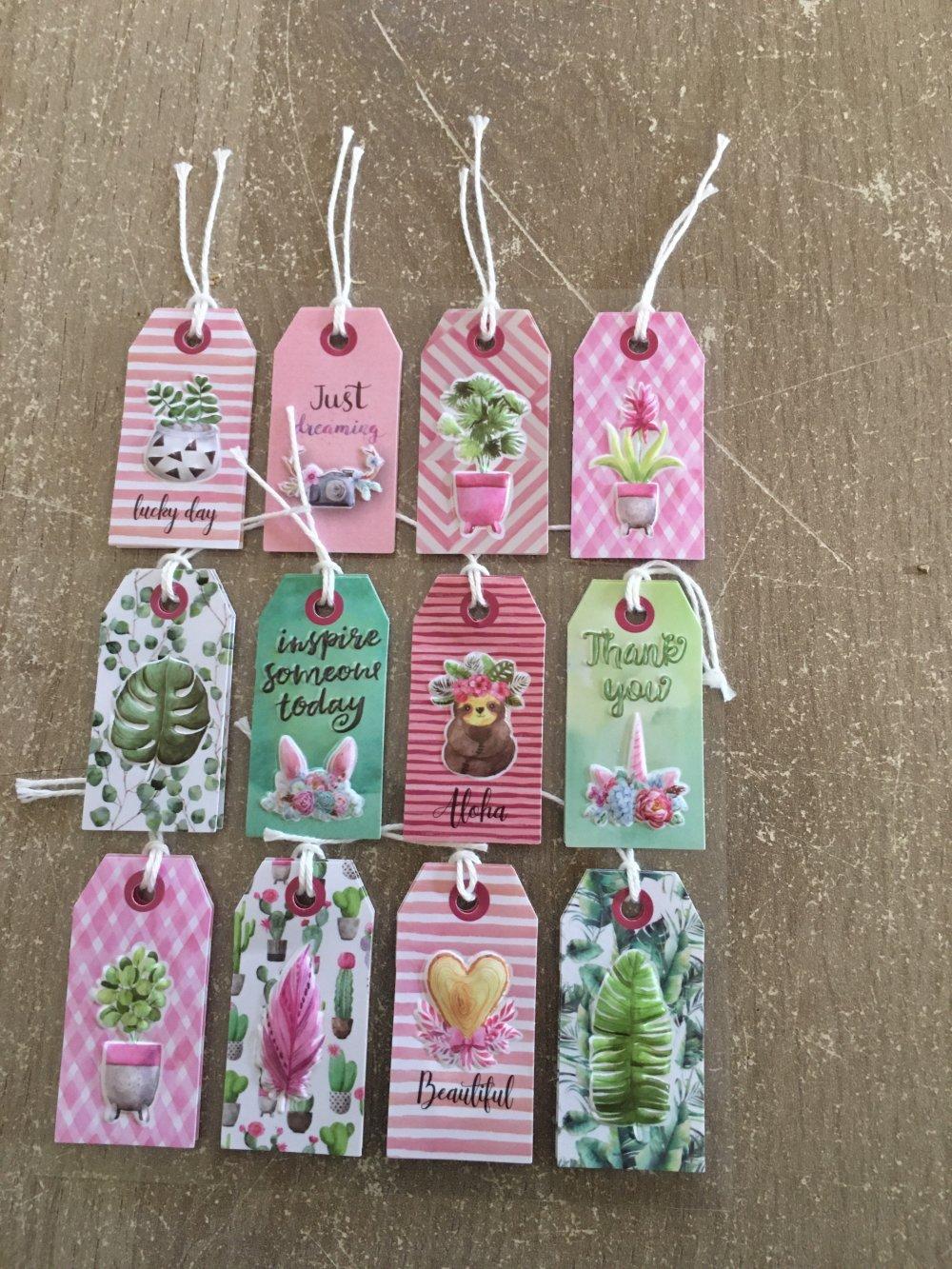 étiquettes plantes