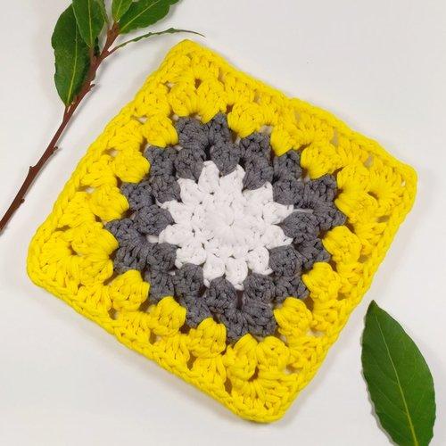 Dessous de plat coton en crochet