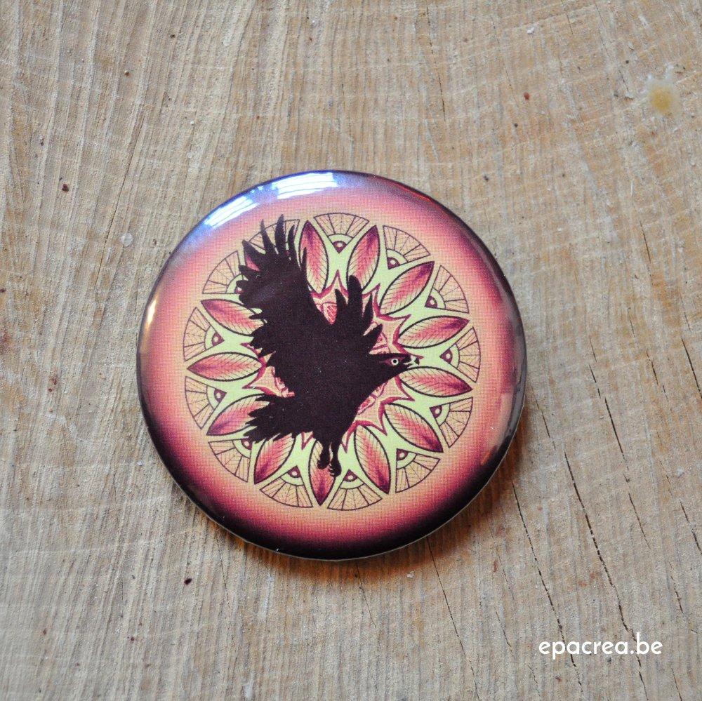 Badge 2,5cm aigle : la vigilance