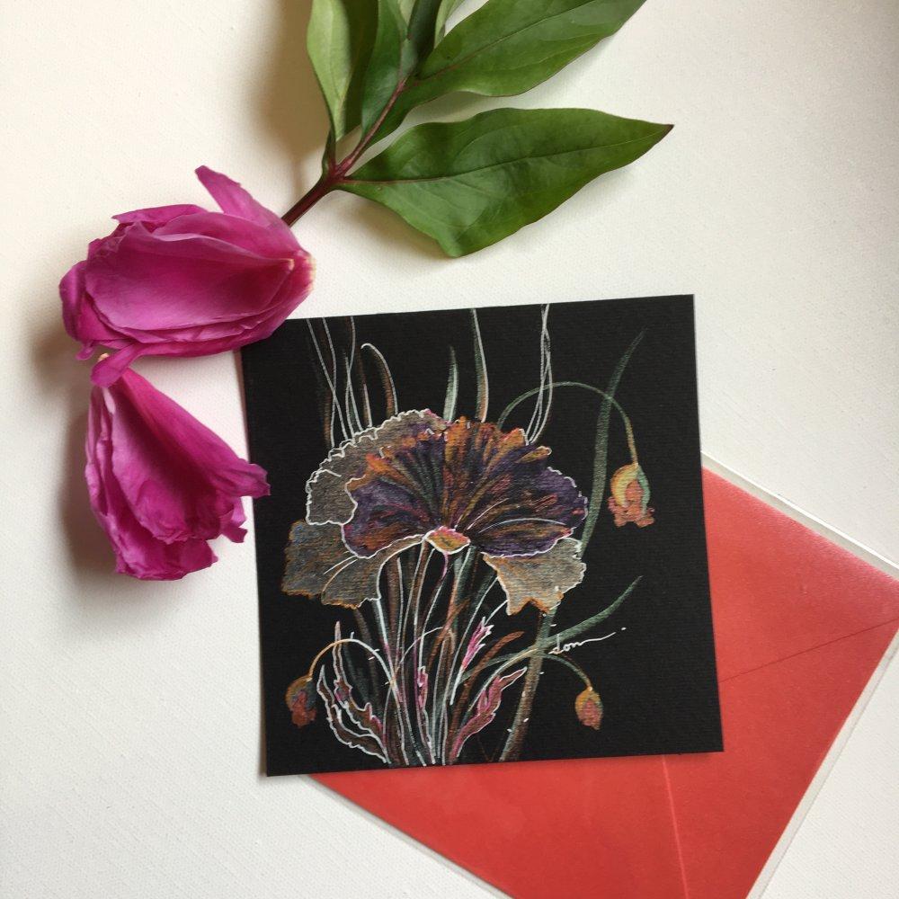 Aquarelle scintillante papier noir