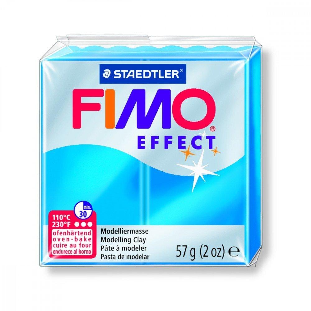 Pâte FIMO Soft bleu translucide vif N°374