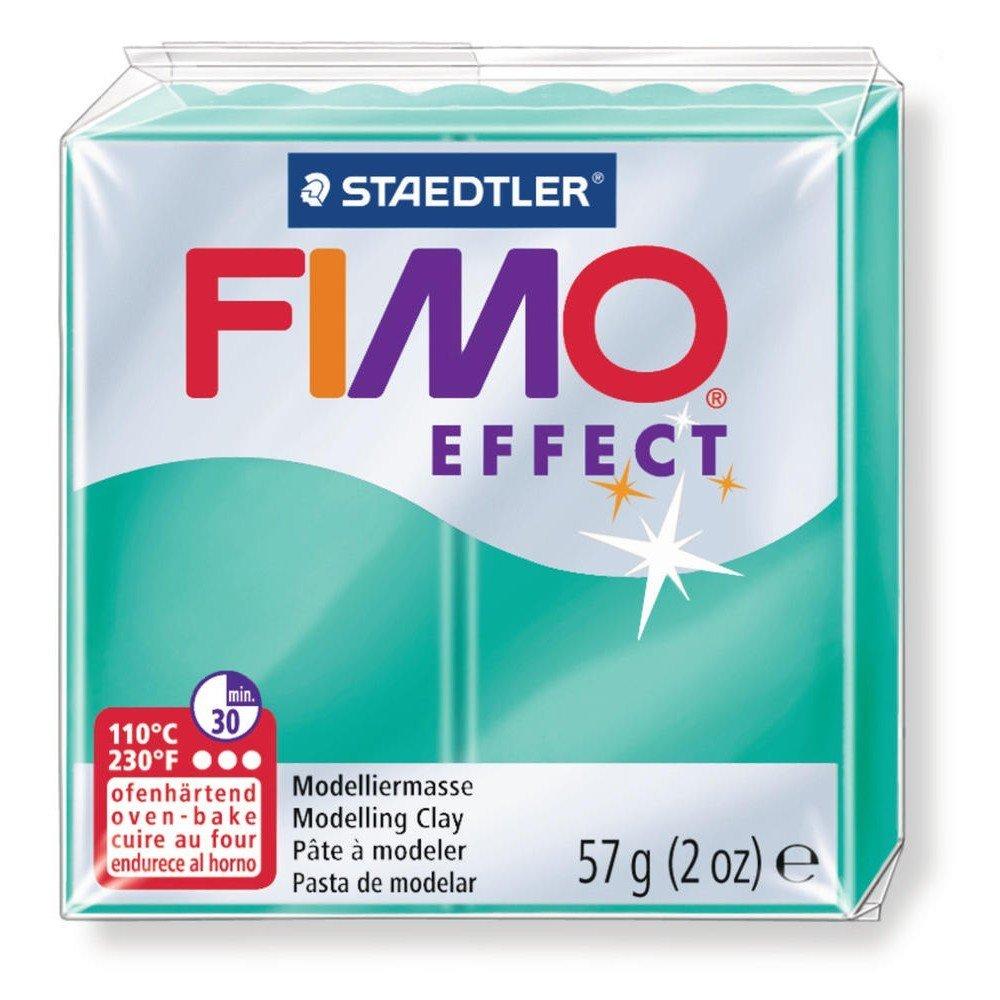 Pâte FIMO Soft Effect vert transparent N°504