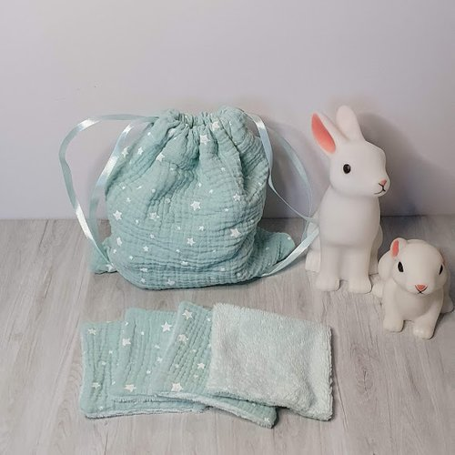 Cotons lavables en éponge de bambou