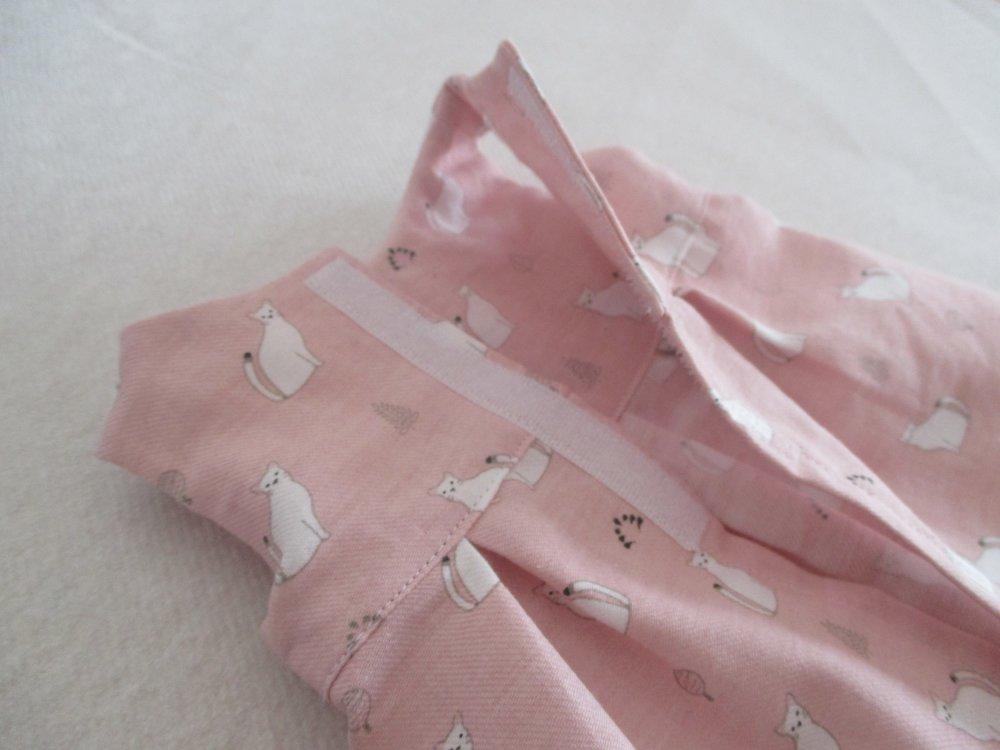 Robe en tissu bio (poupon 30cm)