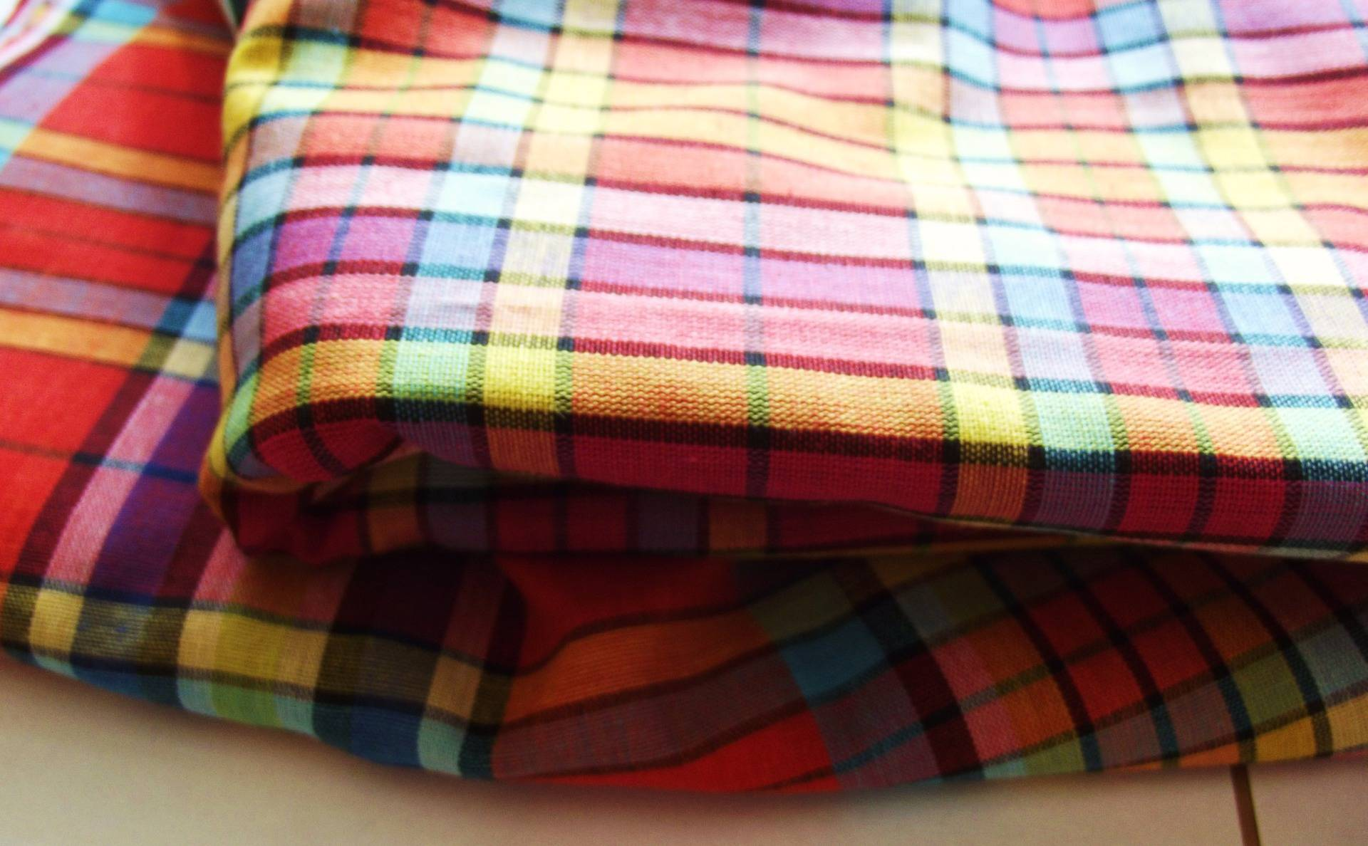 Coupon 40x160 cm tissu madras pour vos créations couture patchwork et scrapbooking