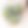 Perle africaine krobo, en verre recyclé, dominante vert