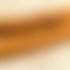Perle africaine ancienne en verre jaune, 12 mm