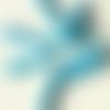 Perle égyptienne en céramique brute, tube bleu clair, 14 mm