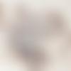 50 perles égyptiennes en céramique brute, blanc, 3 mm