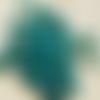 50 perles égyptiennes en céramique brute, vert foncé, 3 mm