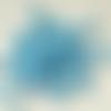 50 perles égyptiennes en céramique brute, bleu clair, 3 mm