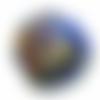 Orgone énergétique demi-sphère à facette de poche fleur chakras