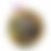 Orgonite énergétique demi-sphère à facette ocre de poche constellation de chakras