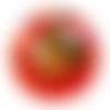 Orgone énergétique demi-sphère orange steampunk