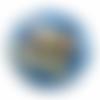 Orgone énergétique géométrie sacrée fleur de vie bleu