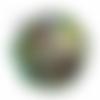 Orgone énergétique demi-sphère à facette de poche vert yoga reiki