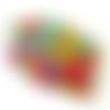 Masque barrière de protection modèle afnor triple épaisseur avec barrette nasale fleurs colorés lavable