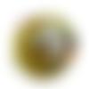Orgonite énergétique demi-sphère à facette de poche soleil et fleur de vie