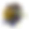Pendentif porte bonheur argenté chouette et lapis-lazuli