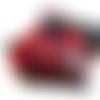 Amulette pendentif de magie elémentale de protection triquetra rouge