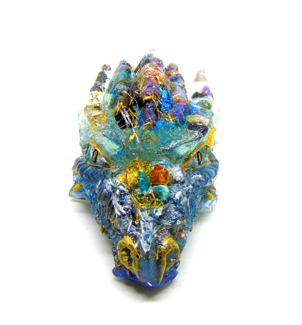 Orgone Dragon d'eau bleu clair