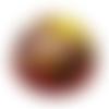 Orgonite énergétique demi-sphère rouge métatron