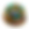 Orgonite énergétique demi-sphère transparente œil d'horus