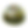 Orgone énergétique demi-sphère transparente papillon