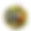 Orgonite énergétique demi-sphère à facette de poche scarabée et fleur de vie