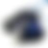 Amulette pendentif de magie elémentale de protection bleu et pentacle