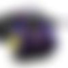 Amulette pendentif de magie elémentale de protection violet fée et fleur de lotus