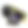 Pendentif goutte ouija lapis lazuli et fleur de lotus yoga style orgone
