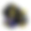 Pendentif goutte ouija lapis lazuli et pentacle style orgone