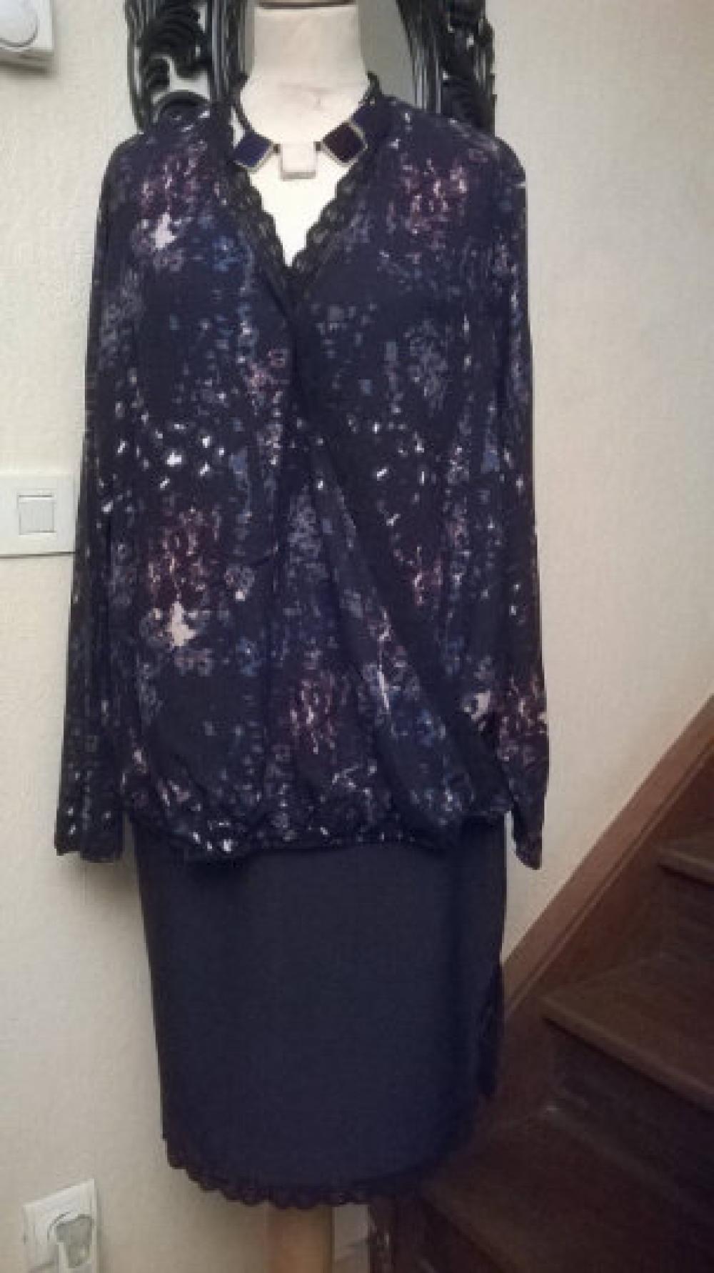Grande taille,blouse femme,coton et viscose,couleur imprimé noir,tunique femme,tunique fille,cadeau femme,cadeau fille,vêtements