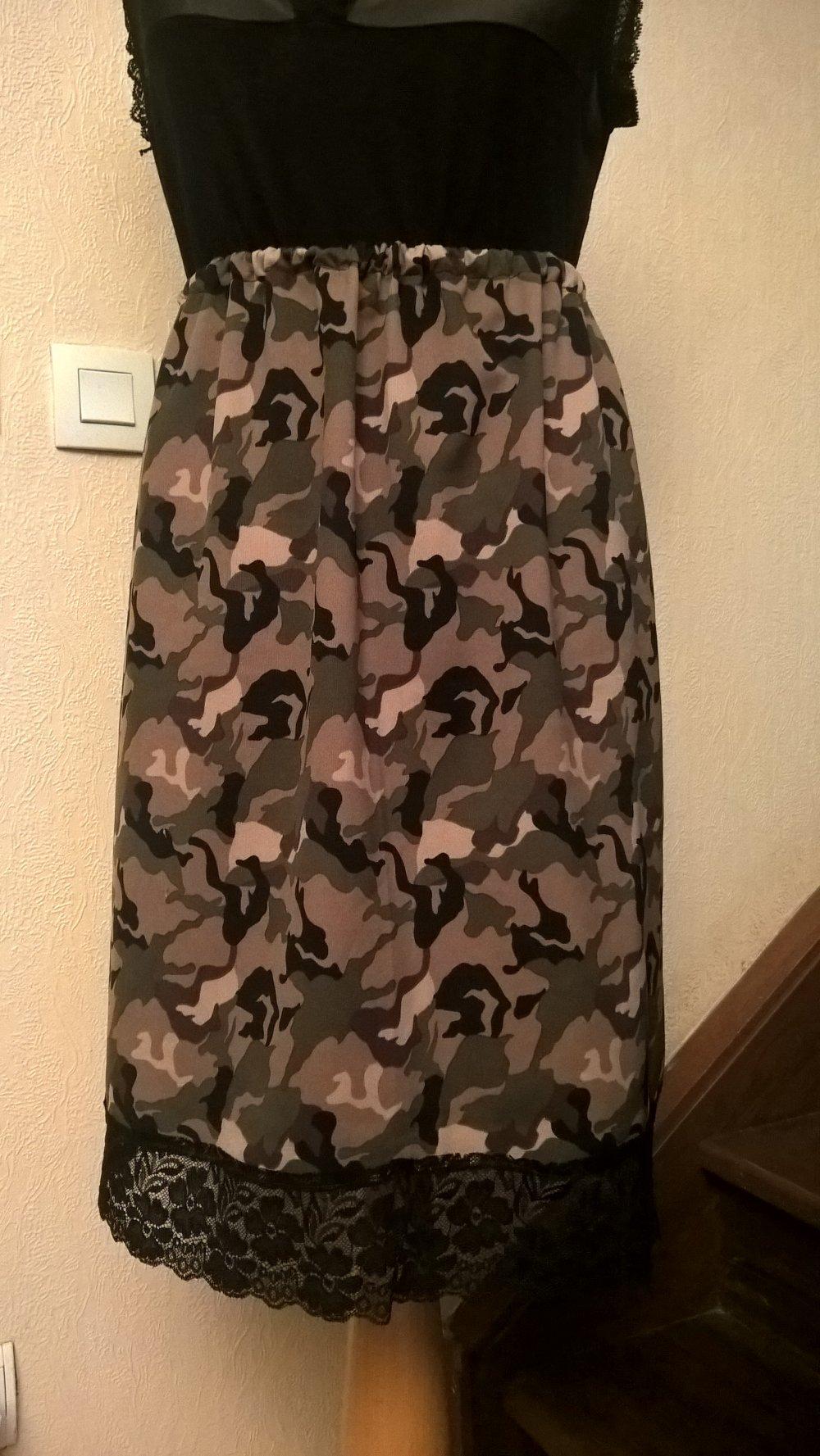 Grande taille,jupe femme,motifs camouflage,couleur kaki et beige,cadeau femme,cadeau fille,vêtements femme,vêtements fille,jupe