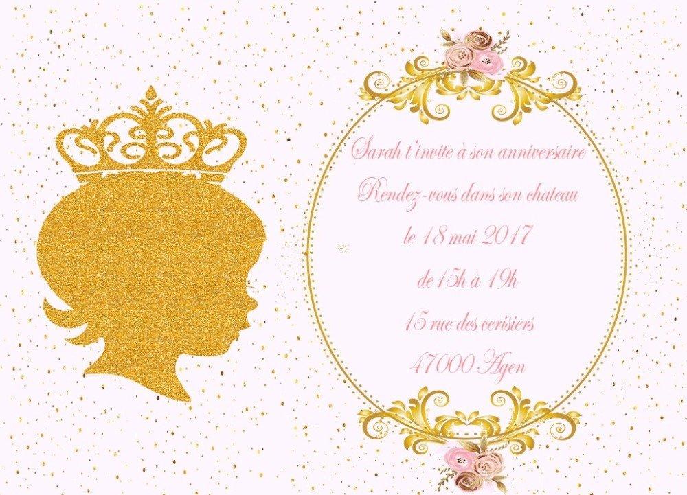 Carte Anniversaire Princesse Animee