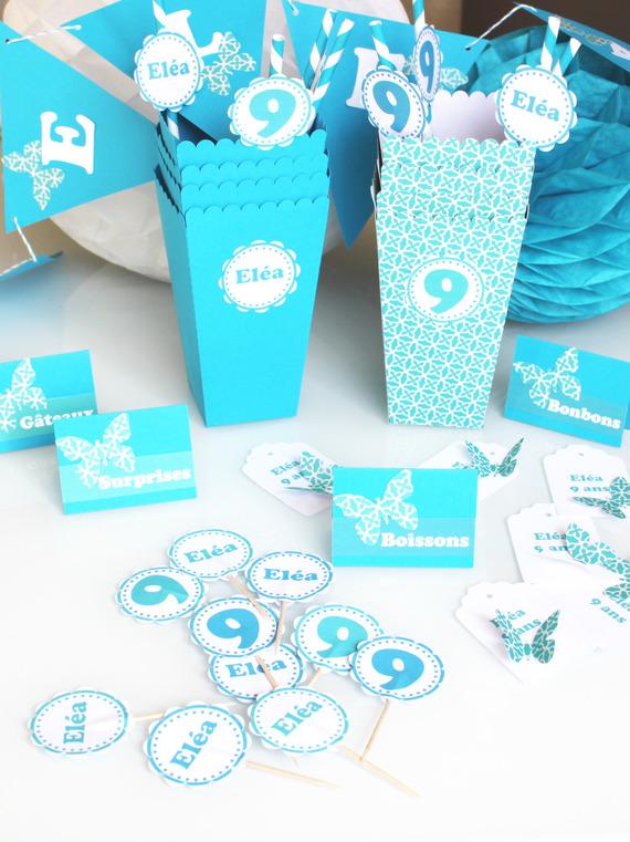 BOX anniversaire personnalisée - 6 personnes- pour candy bar
