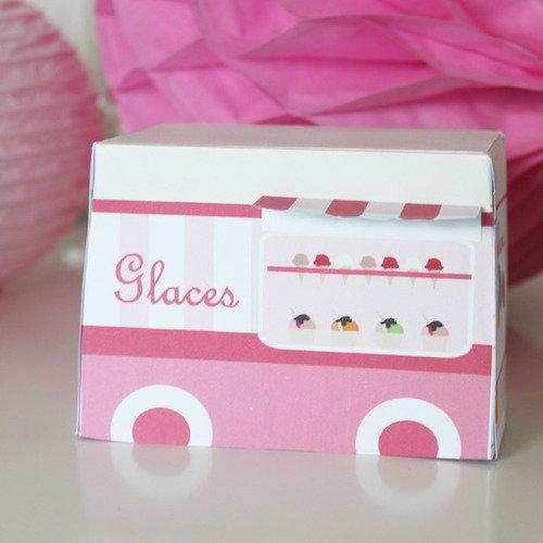 """Camion de glace pour décoration de table """"marchand de glace"""""""