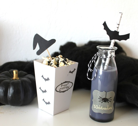 Petite boite à pop corn- thème Halloween