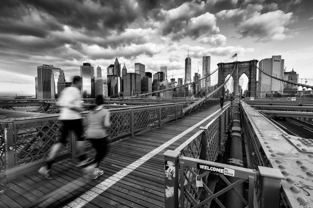 Runners sur le Pont de Brooklyn, Tirage Fine Art 20 x 30 cm