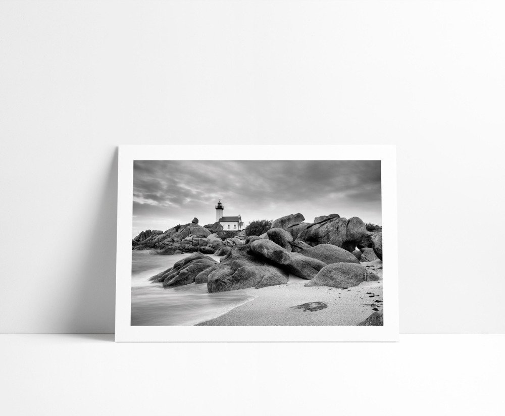 Le Phare de Pontusval, Tirage Fine Art 15 x 21 cm