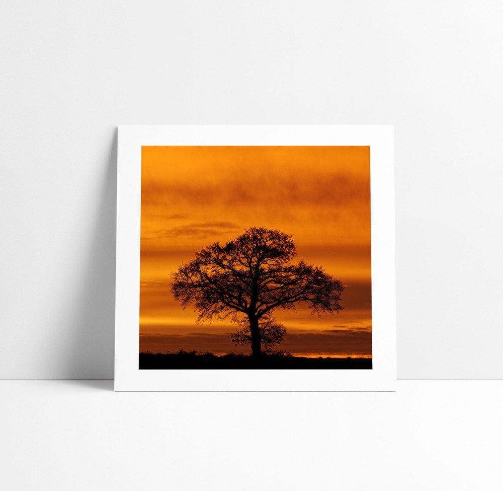 Lever de Soleil #2, Tirage Fine Art 20 x 20 cm