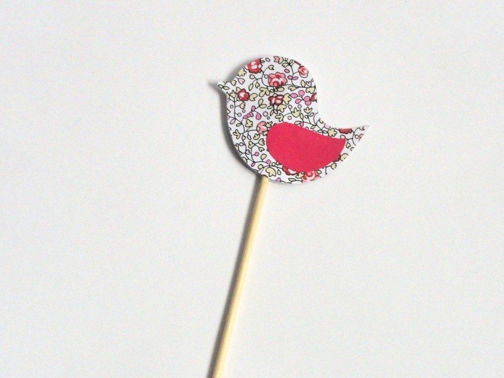 Pic oiseau liberty Eloïse rose